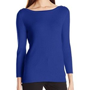 ANNE KLEIN Ribbed Sweater Top Size M New with tags